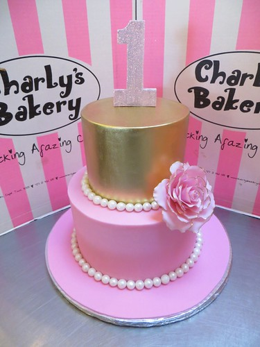 Cake Pink And Gold Birthday