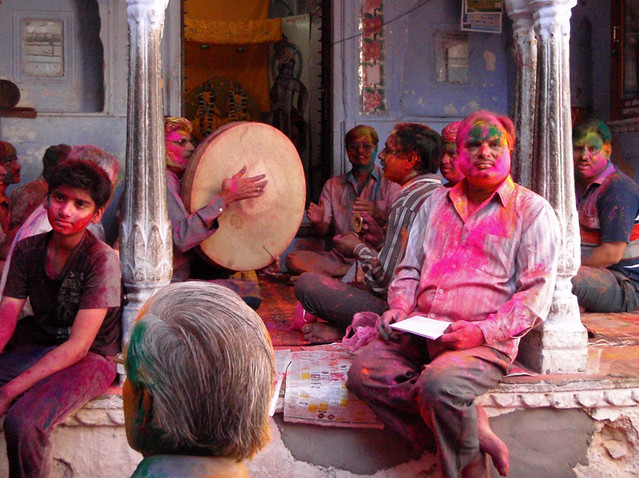 Holi, the Festival of Colours, in Jaipur, India