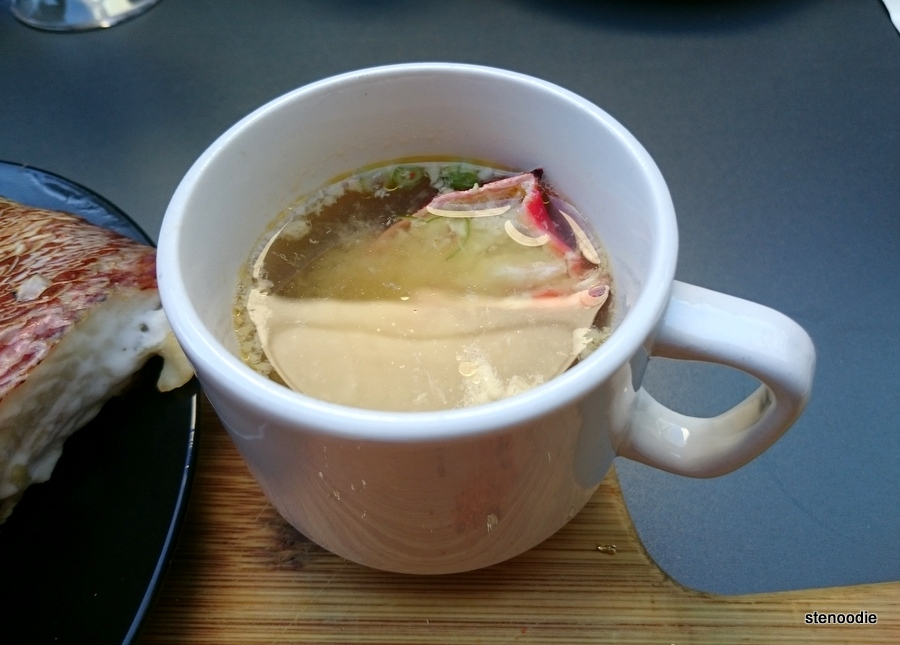 lobster broth miso soup