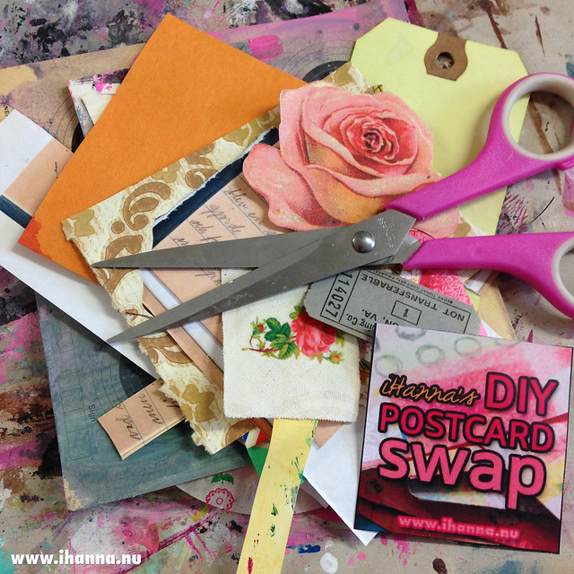 Swap time in my world as I'm sorting through paper scraps to make postcards - photo by @ihanna #diypostcardswap
