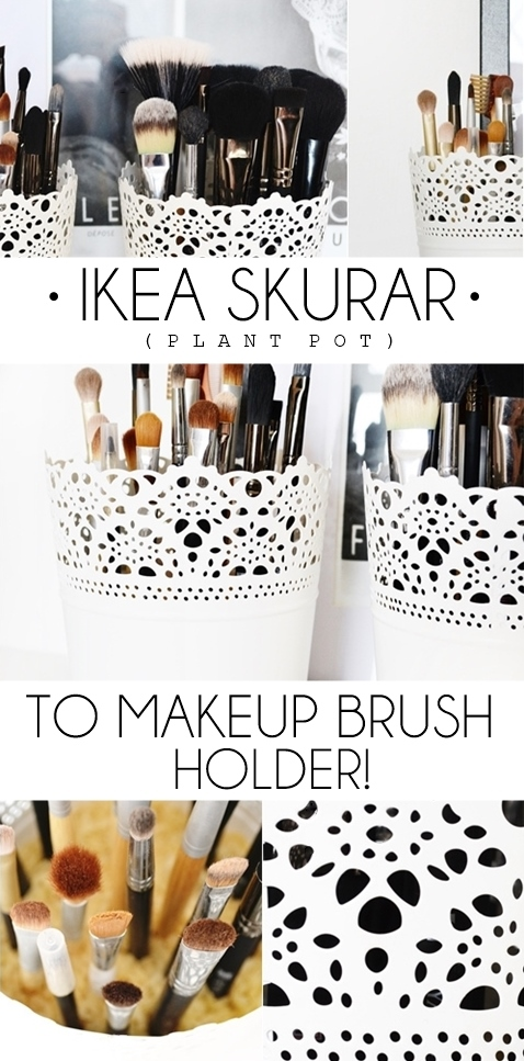 自己动手做 _宜家_Skurar_Makeup_Brush_Holder