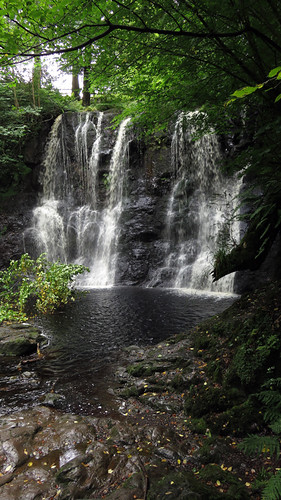 A waterfall on our 'Waterfalls Walk' in the Antrim Glens, Ireland, UK