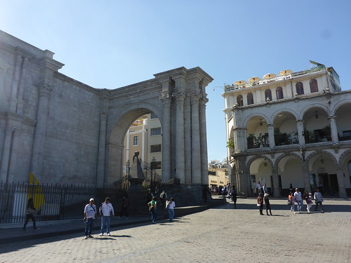 Arches in the Plaza de Armas