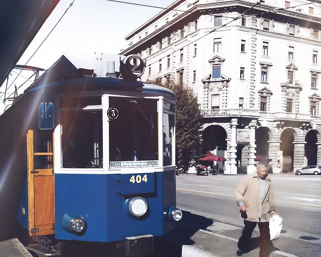 Cute tram somewhere in Italy