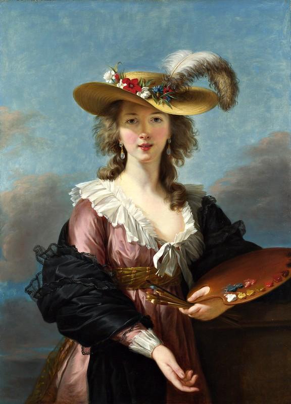 Elisabeth Louise Vigée Le Brun - Self Portrait in a Straw Hat (c.1782)