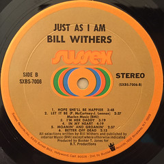 BILL WITHERS:JUST AS IAM(LABEL SIDE-B)
