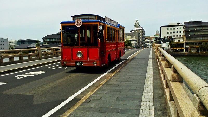Cute tram in Matsue, Japan