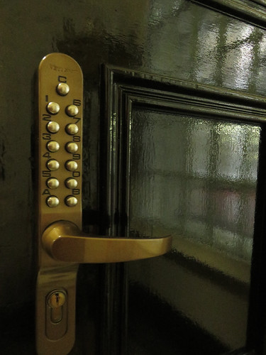 Door lock in the Crumlin St. Gaol in Belfast, Ireland