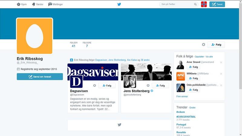 klage på denne twitter kontoen for identitetstyveri