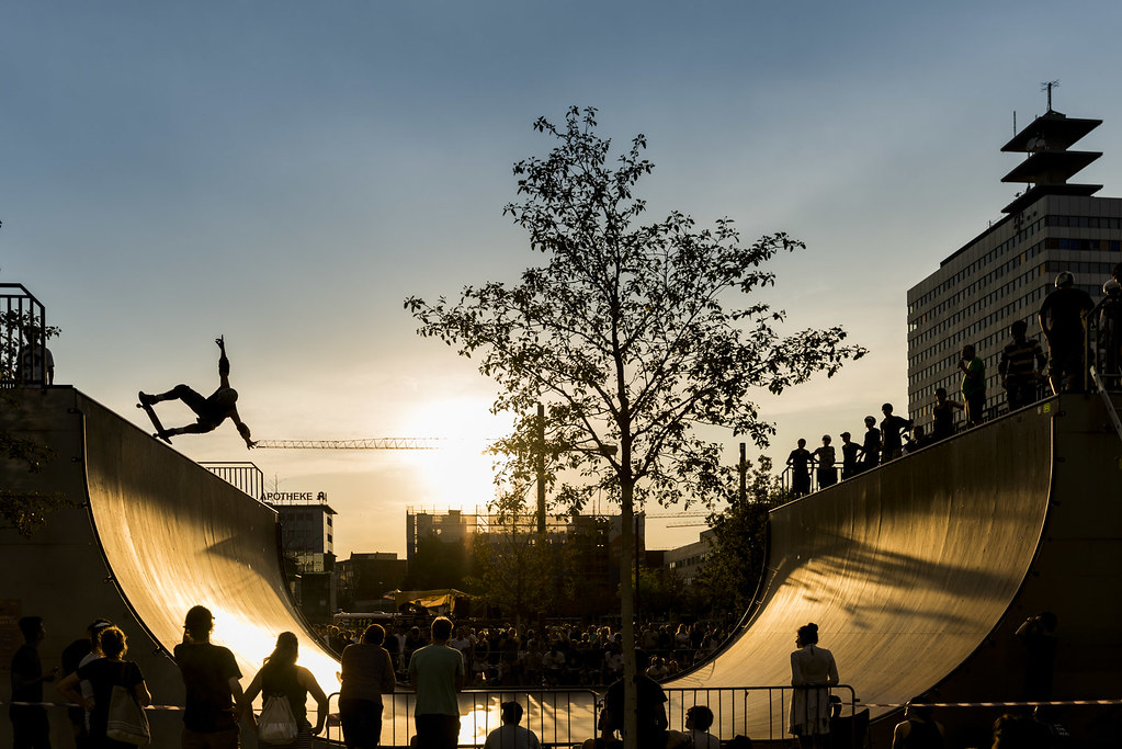 Halfpipe at sunset