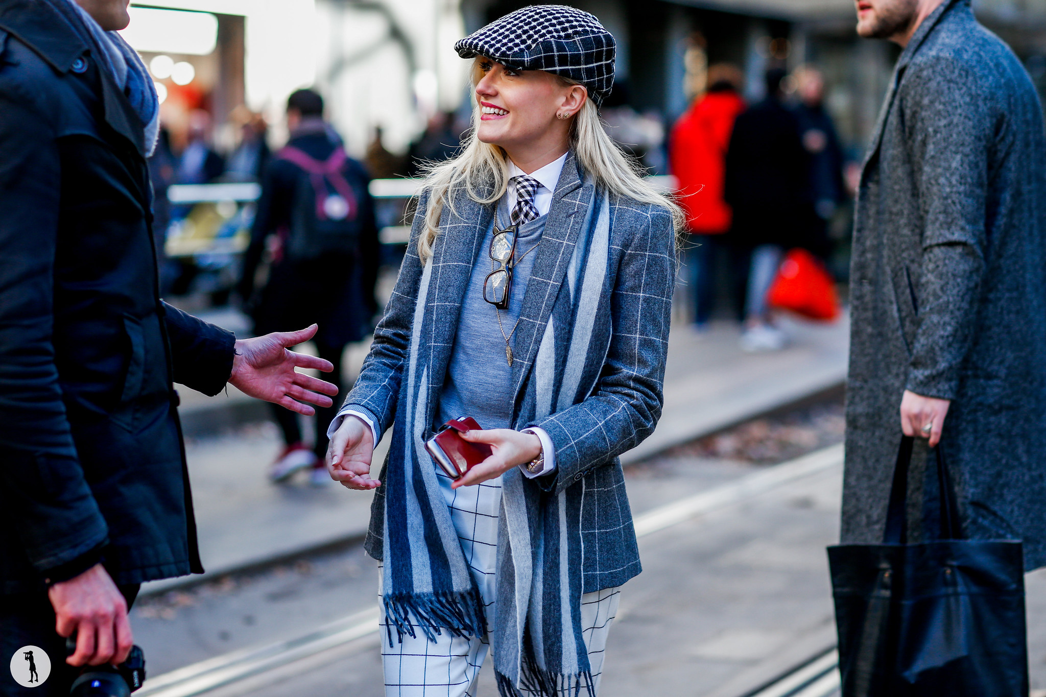 Sarah Ann Murray at Milan Fashion Week Menswear