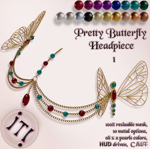 !IT! - Pretty Butterfly Headpiece 1 Image