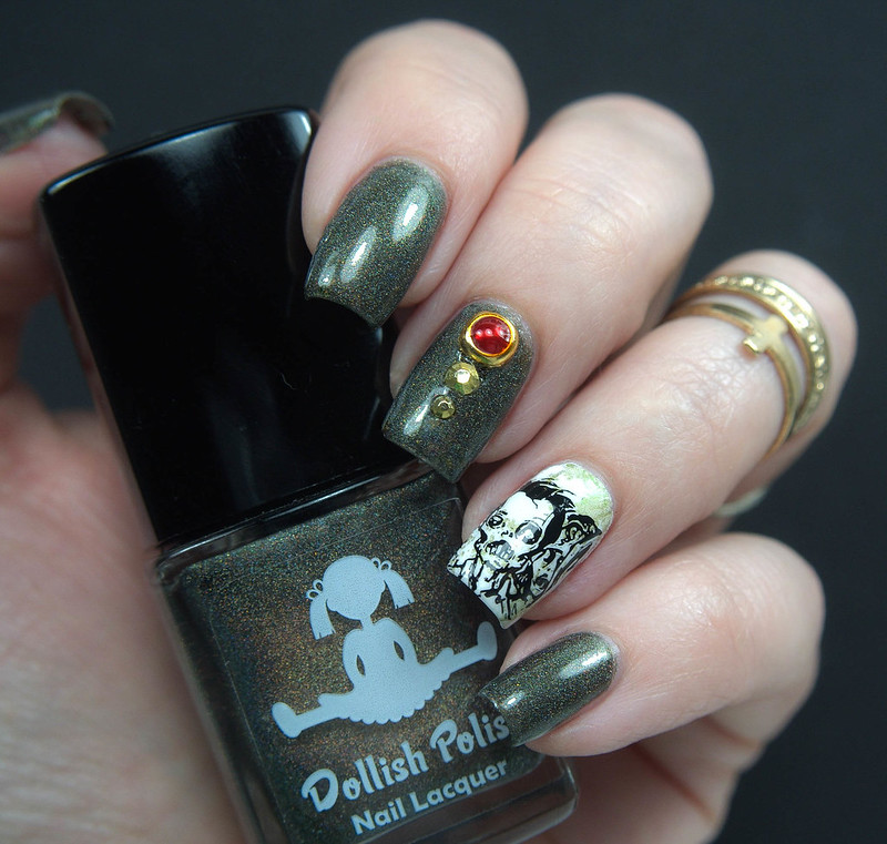 Dollish Polish Walker Bait Halloween Nails