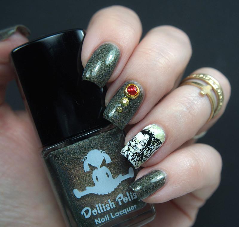 Dollish Polish Walker Bait Halloween Nails