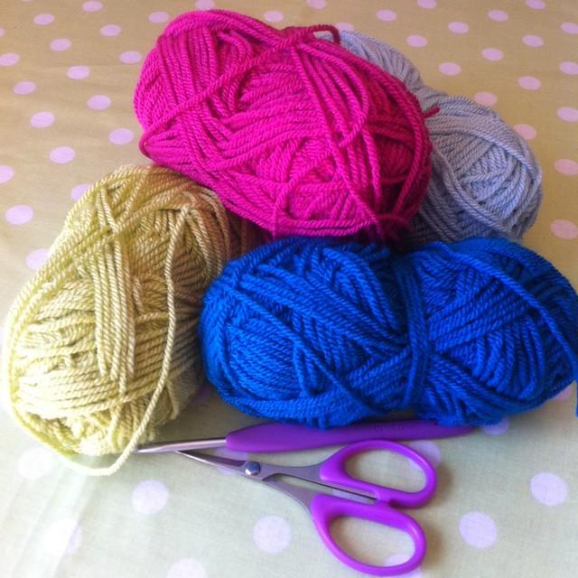 Granny Square Day yarn