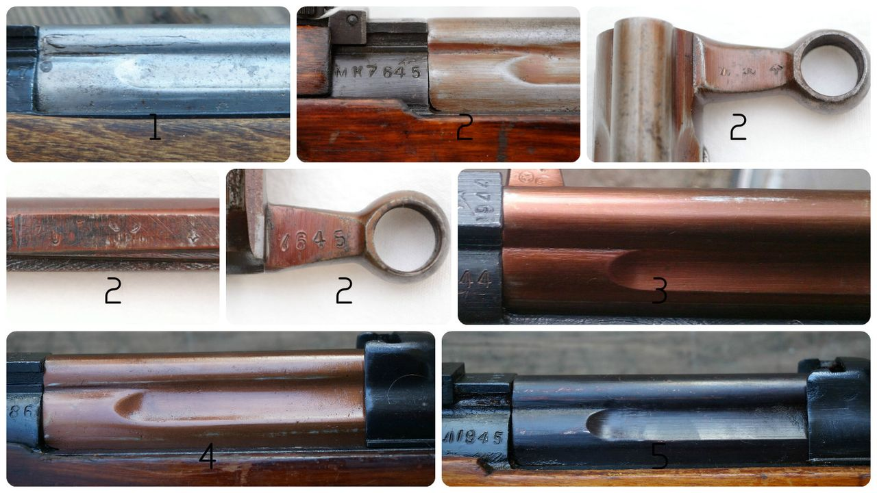 pictures: 1 - early bolt carrier