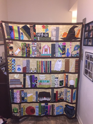 Project Of Doom, Harry Potter Bookcase Quilt.