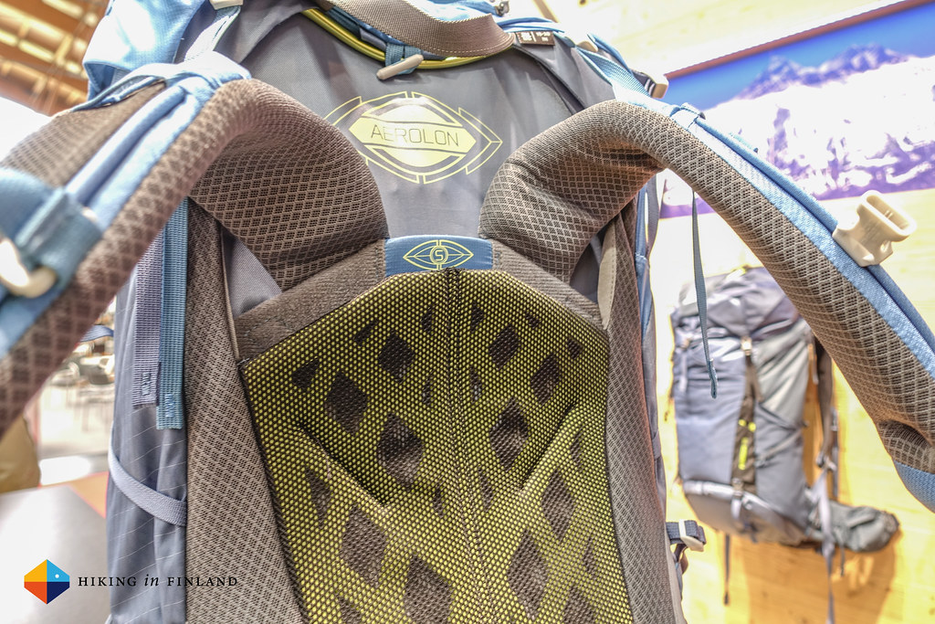Gregory Paragon back-panel and shoulder straps