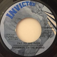 CHAIRMEN OF THE BOARD:PAY TO THE PIPER(LABEL SIDE-A)
