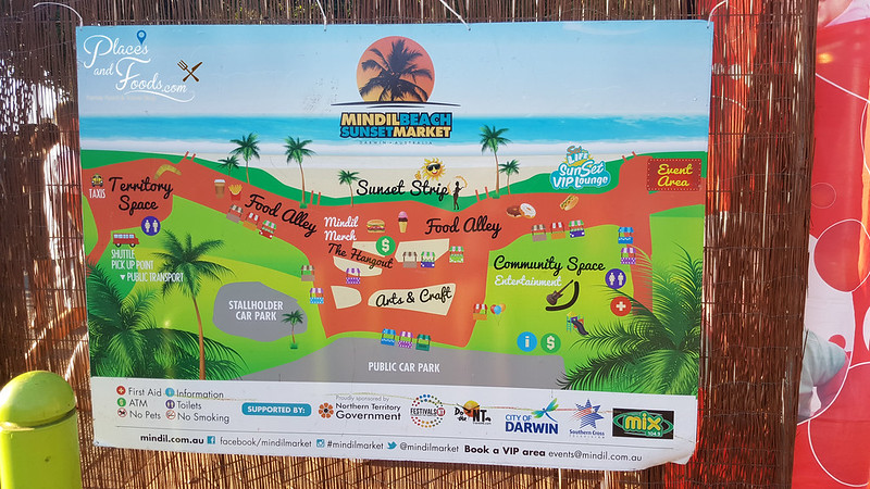 Mindil Beach Darwin market map
