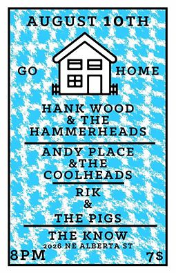 8/10/16 HankWoodAndTheHammerheads/AndyPlaceAndTheCoolheads/RikAndThePigs