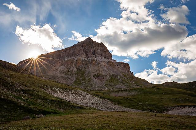 Uncompahgre Peak Sunburst