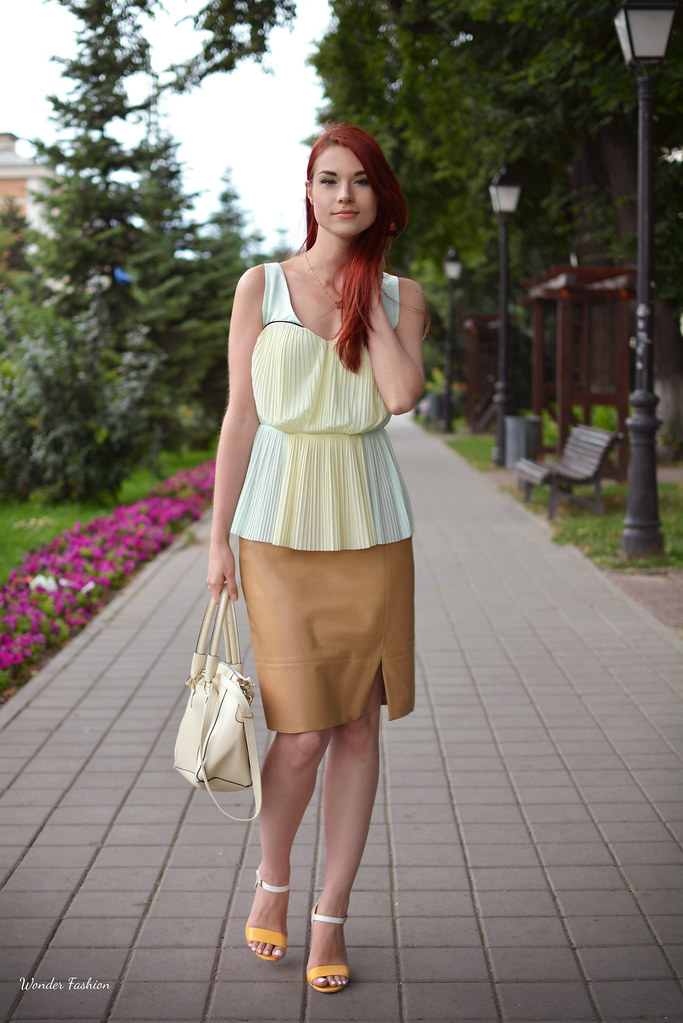 chiffon and leather6