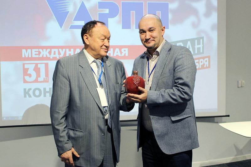 """Вручение приза Сергею Гаврилову, АРПИ """"Сибирь"""""""
