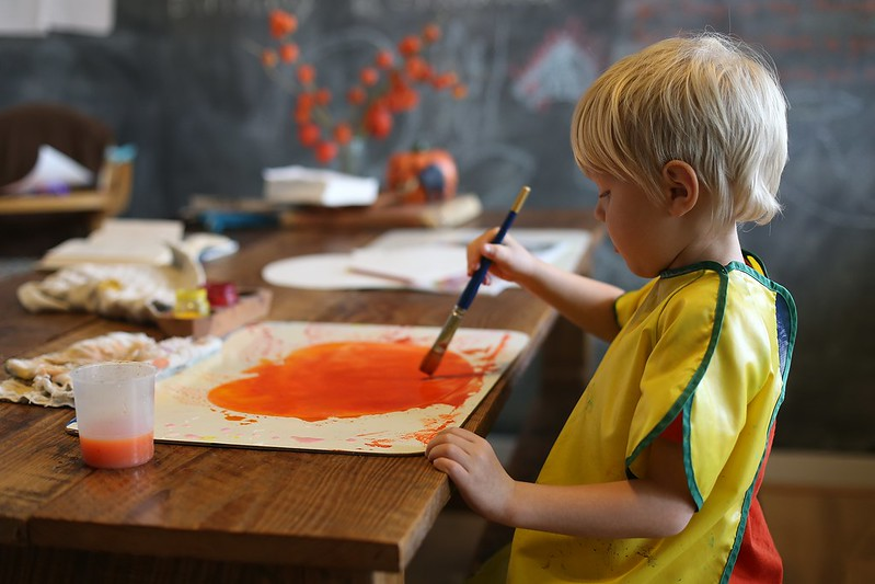 painting his Jack O' Lantern
