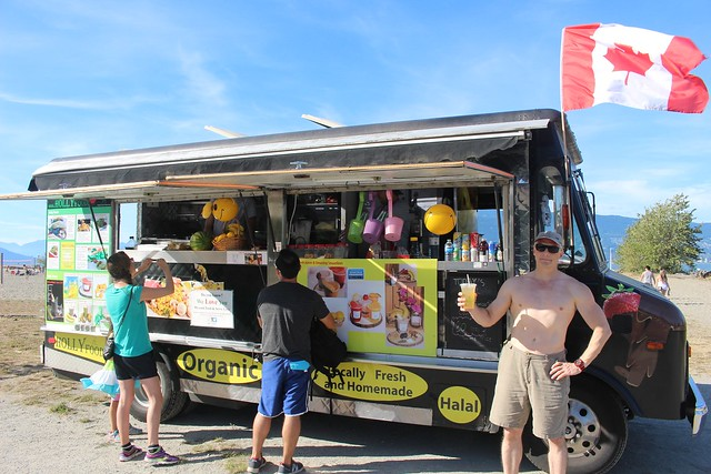 Holly Food Truck at Spanish Banks, Vancouver, BC