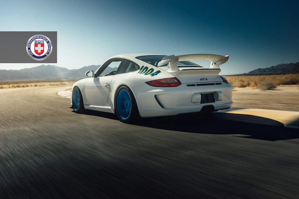 Porsche 911 GT3 в кузове 997.2 на дисках HRE R101