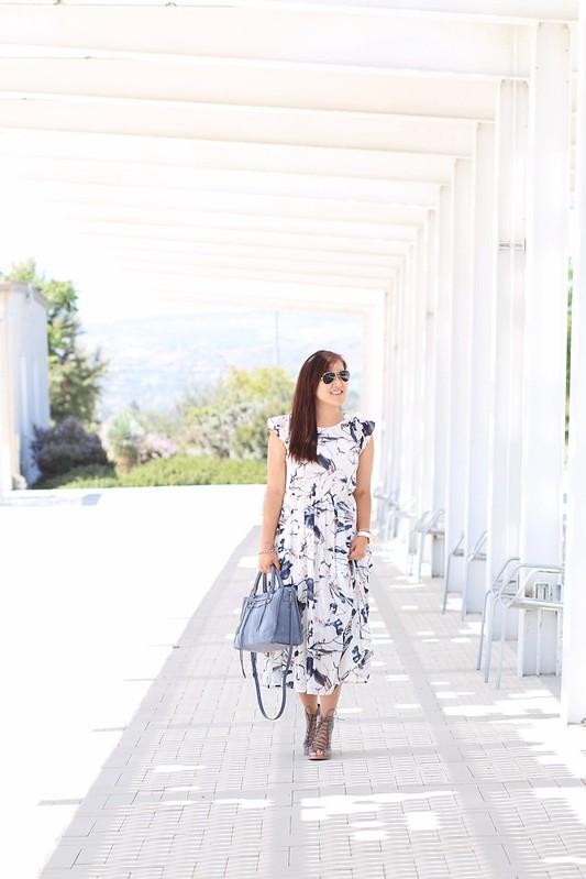 simplyxclassic, rebecca minkoff regan satchel, nordstrom sale, dezzal dress, floral midi dress, summer, orange county, blogger, fashion