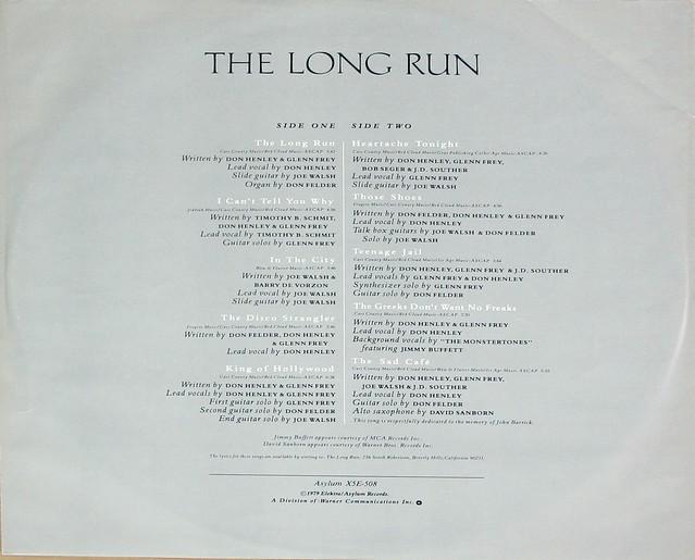 "Eagles - The Long Run Gatefold 12"" vinyl LP"