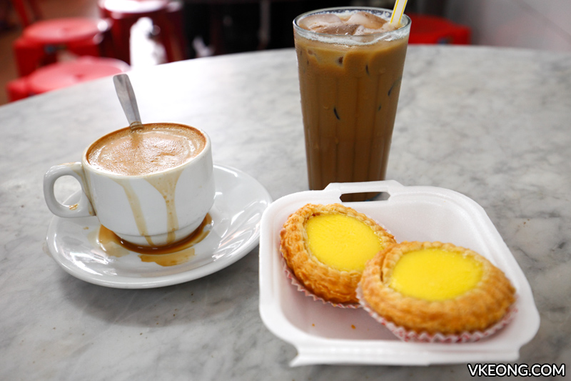 Nam Heong Egg Tart white coffee Ipoh