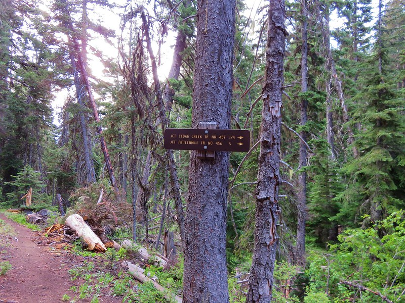 Fifteenmile Trail sign