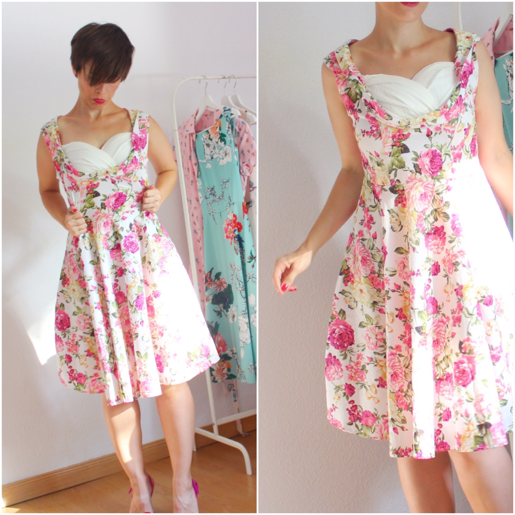 romwe flower dress