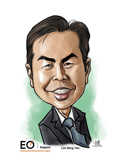 Lim Ming Yan digital caricature for EO Singapore