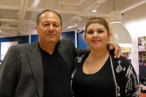 Šemso Avdić och sondottern Amela Avdić-Maletic