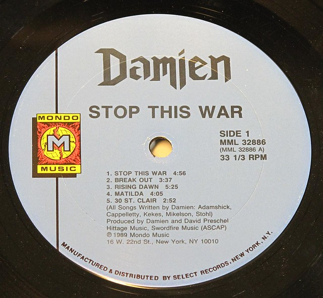 "DAMIEN STOP THIS WAR 12"" LP"