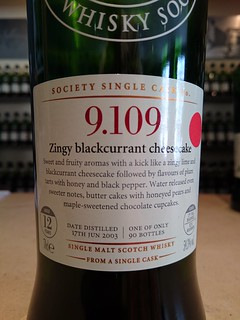 SMWS 9.109 - Zingy blackcurrant cheesecake