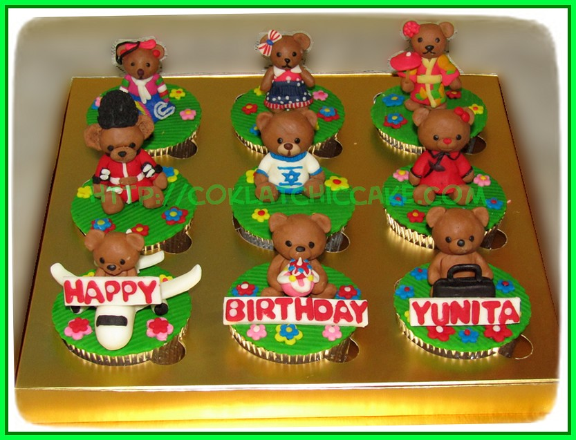 Cupcake set Teddy Bear