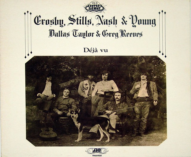 Crosby Stills Nash & Young Deja Vu White Cover