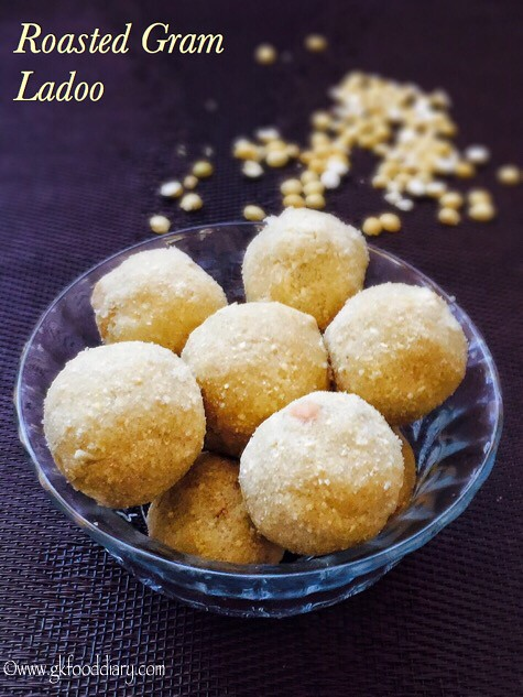 Roasted Gram Dal Ladoo Recipe for Toddlers and Kids2