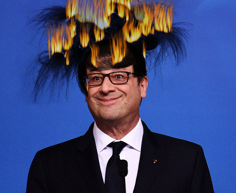 FRENCH PRESIDENT MORON