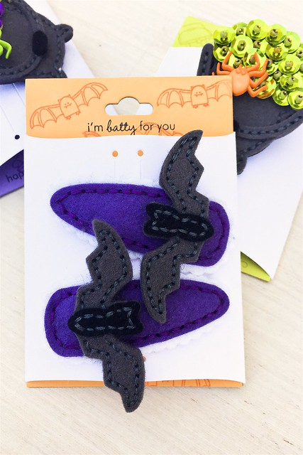 Stitched Bat, Clever Barrette Dies, and Boutique Accessory Card by Papertrey Ink