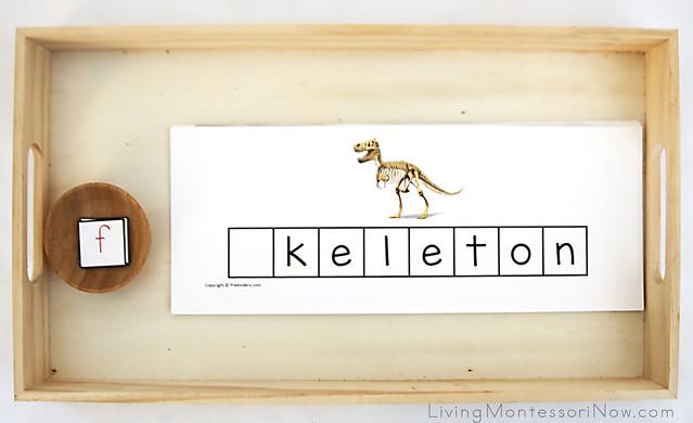 Dinosaur Letter Tile Tray