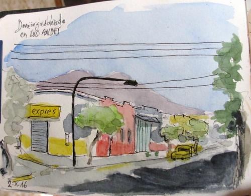 Calle de Los Andes. Chile