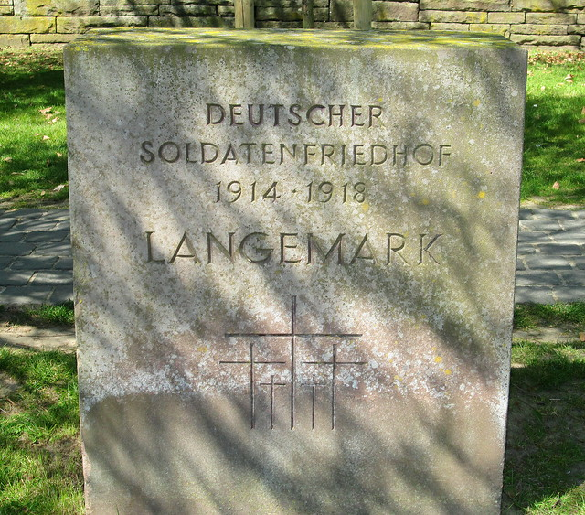 Langemark War Cemetery, Stone by Entrance