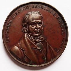 1859 Isambard Kingdom Brunel Steamship medal obverse