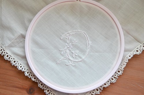 3 Splitstitch around the outside of the design (backstitch works for stronger fabrics)